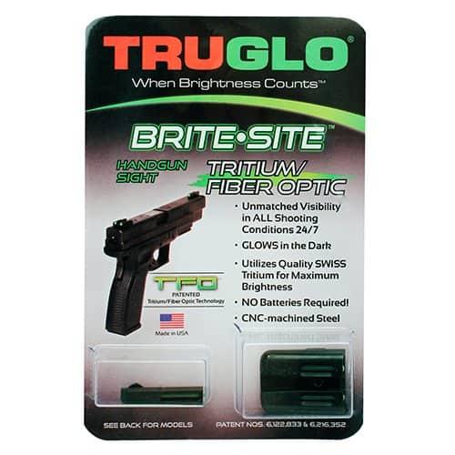 TFO Tritium and Fiber-Optic Handgun Sights for Glock Pistols