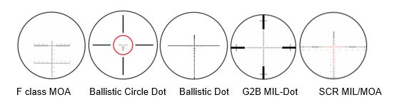 reticle type choices