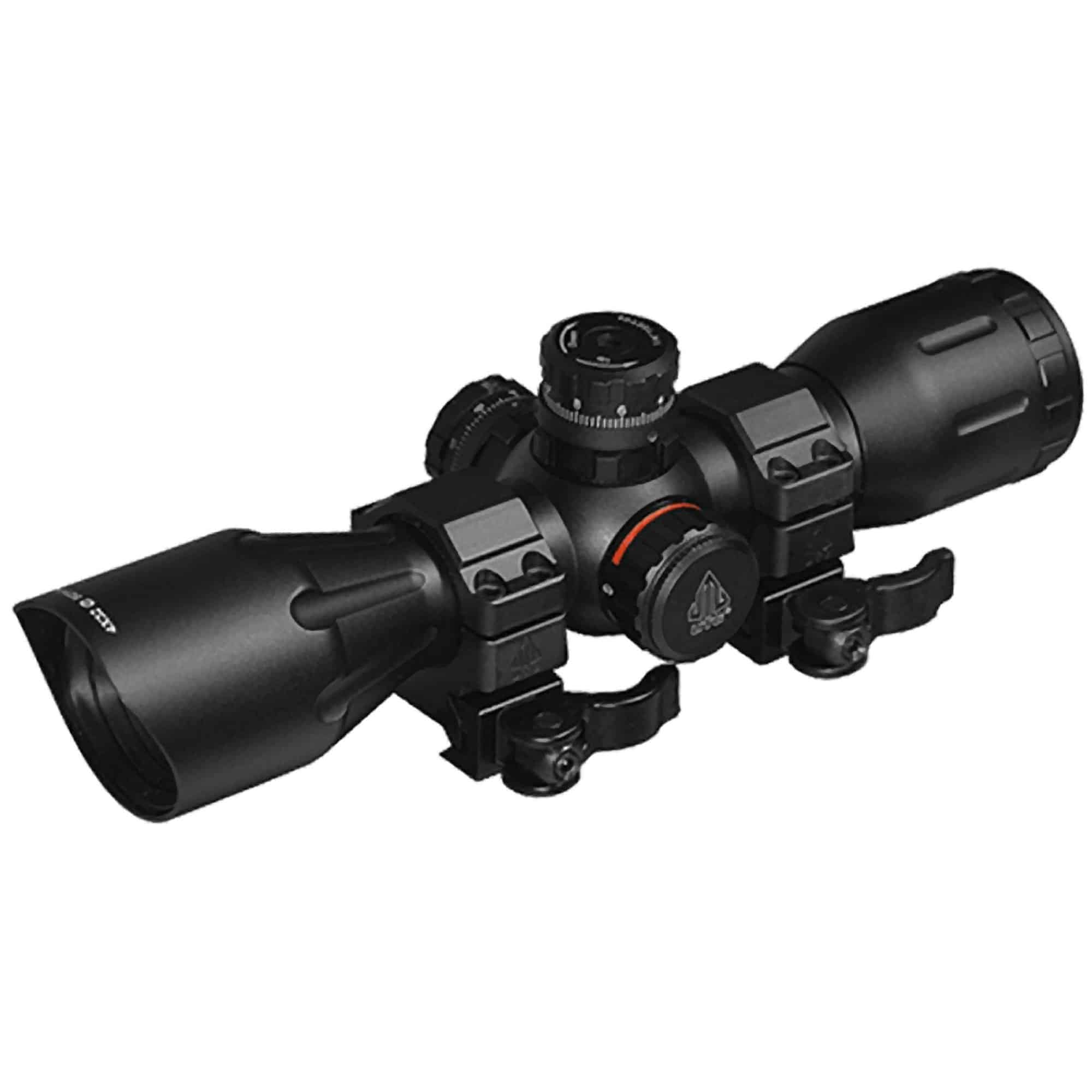 "UTG 4X32 1"" Pro 5-Step RGB Reticle, QD Rings"