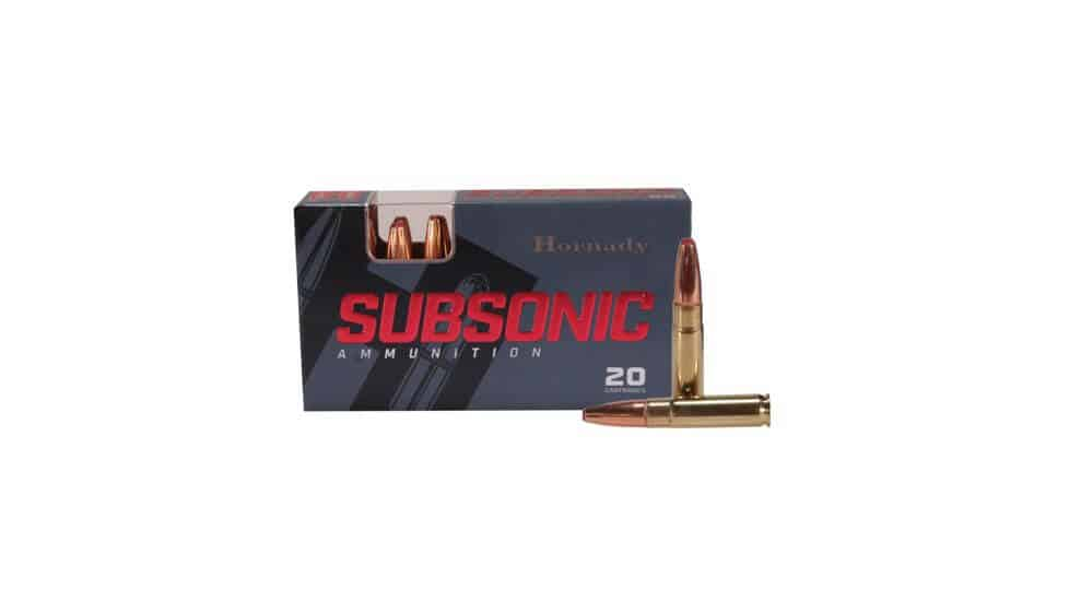 Hornady Subsonic .190 grain Sub-X Rifle Ammunition