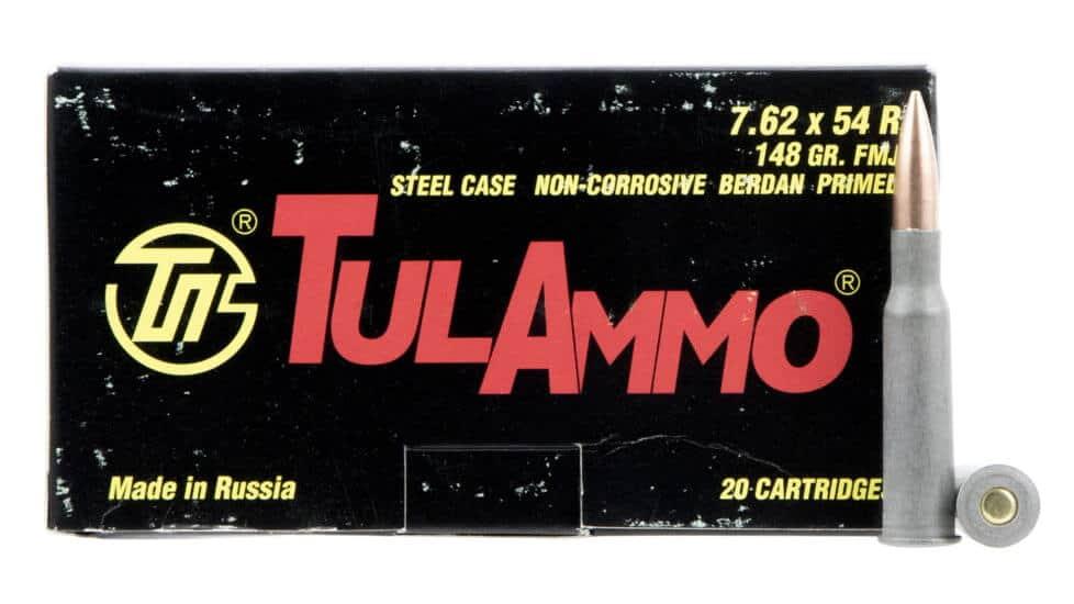 Tulammo 7.62x54mmR 148 Gr Full Metal Jacket